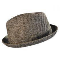 Billy Toyo Straw Braid Fedora Hat in
