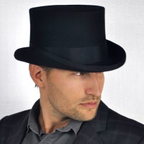 Mid Crown Wool Felt Top Hat alternate view 7