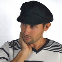 Herringbone Wool Blend Fiddler's Cap in