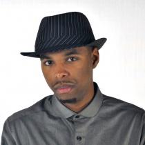 Pinstripe Fabric Trilby Fedora Hat