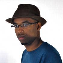 Corduroy C-Crown Trilby Fedora Hat in