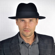 C-Crown Crushable Wool Felt Fedora Hat