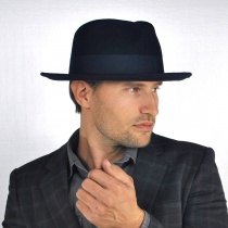 C-Crown Crushable Wool Felt Fedora Hat in