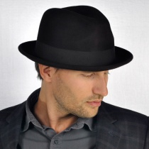 Blues Crushable Wool Felt Trilby Fedora Hat alternate view 9