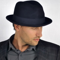 Blues Crushable Wool Felt Trilby Fedora Hat alternate view 135