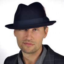 Blues Crushable Wool Felt Trilby Fedora Hat alternate view 30