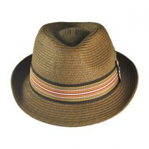 Ridley Toyo Straw Trilby Fedora Hat alternate view 56