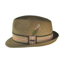 Ridley Toyo Straw Trilby Fedora Hat alternate view 76