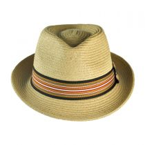 Ridley Toyo Straw Trilby Fedora Hat alternate view 80