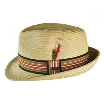 Ridley Toyo Straw Trilby Fedora Hat alternate view 81