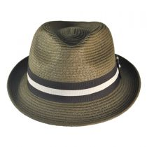 Ridley Toyo Straw Trilby Fedora Hat alternate view 86