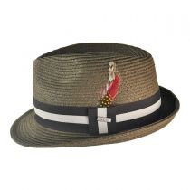 Ridley Toyo Straw Trilby Fedora Hat alternate view 32