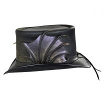 Draco Leather Top Hat in
