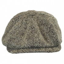 Harris Tweed Herringbone Newsboy Cap