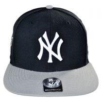 New York Yankees MLB Sure Shot Snapback Baseball Cap alternate view 2