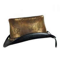 Hatlas Leather Top Hat in