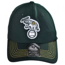 Oakland Athletics MLB GT Closer Fitted Baseball Cap alternate view 2