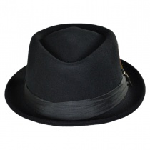 Stout Wool Felt Diamond Crown Fedora Hat in