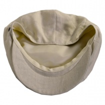 Linen and Cotton Newsboy Cap in