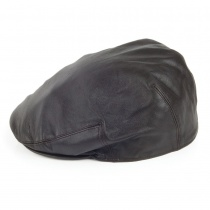 Leather Ivy Cap Brown