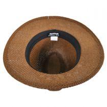 Ribbon Toyo Straw Safari Fedora Hat in