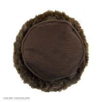 Alpine Princess Faux Suede and Fur Hat