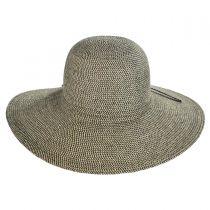 Tweed Toyo Straw Floppy Sun Hat alternate view 2
