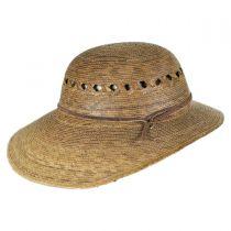Laurel Lattice Palm Straw Facesaver Hat in