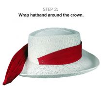 Cotton Twill 3-Pleat Pug Hat Band - Red in