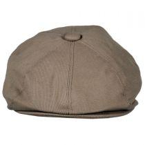 Cotton Newsboy Cap - Mocha in