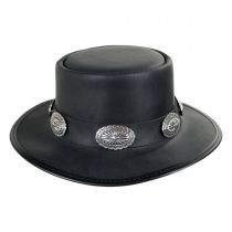 Stevie Leather Topper Hat in