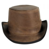 Stoker Leather Top Hat in