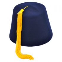 Navy Blue Fez with Gold Tassel alternate view 10