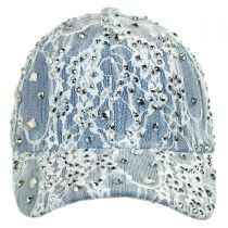 Lace and Denim Strapback Baseball Cap Dad Hat alternate view 2