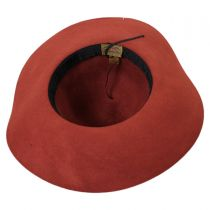 Wax Cord Wool Felt Floppy Hat in