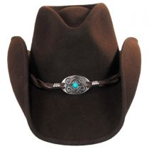 Concho and Leather Wool Felt Western Hat in