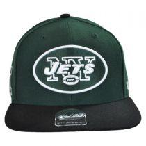 New York Jets NFL Sure Shot Strapback Baseball Cap Dad Hat alternate view 2