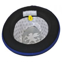 Three Tone Band Wool Felt Fedora Hat in
