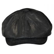 Rustic Leather Newsboy Cap alternate view 2