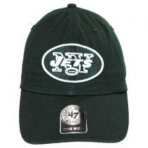 New York Jets NFL Clean Up Strapback Baseball Cap Dad Hat alternate view 2