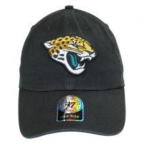 Jacksonville Jaguars NFL Clean Up Strapback Baseball Cap Dad Hat alternate view 2