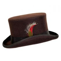 Mid Crown Wool Felt Top Hat alternate view 10