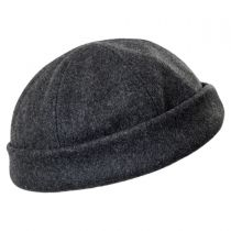 Six Panel Wool Skull Cap Beanie Hat in