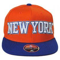 New York Knicks NBA adidas On-Court Snapback Baseball Cap alternate view 2