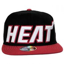 Miami Heat NBA adidas On-Court Snapback Baseball Cap alternate view 2