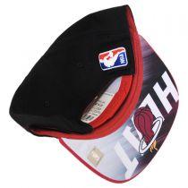 Miami Heat NBA adidas On-Court Snapback Baseball Cap alternate view 4