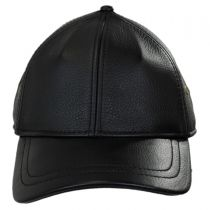 Timber Leather Adjustable Baseball Cap in