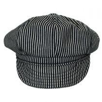 Engineer Striped Cotton Newsboy Cap alternate view 6