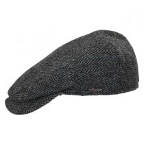 Harris Tweed Herringbone Check Ivy Cap with Earflaps