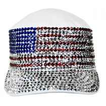 USA Flag Studded Cotton Cadet Cap alternate view 2